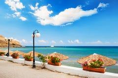 Schöne Seeküste in Kreta-Insel, Griechenland lizenzfreie stockfotografie