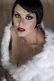 schöne sexy Frau des Brunette 20s Stockfotos