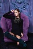 Schöne sexy Frauensammlung kleidet Businessmodeart lizenzfreie stockfotografie