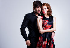 Schöne sexy Paare in der Liebe Lizenzfreie Stockfotos