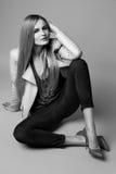 Schöne sexy vorbildliche Frau in der zufälligen Kleidung Katalogisieren Sammlung Lizenzfreie Stockfotos