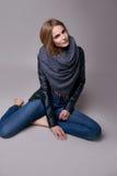 Schöne sexy vorbildliche Frau in der zufälligen Kleidung Katalogisieren Sammlung Lizenzfreie Stockbilder