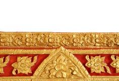 Schöne siamesische Kunst auf Tempelwand stockbilder