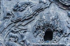 Schöne Skulptur auf der Wand Stockfotos