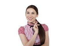 Schöne smilling Geschäftsfrau Lizenzfreies Stockfoto