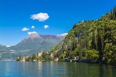 Schöne Sommeransicht über See Como-Ufer in Lombardei-Region, Ita Stockfoto