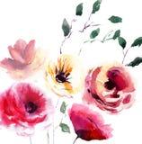 Schöne Sommerblumen Stockfoto