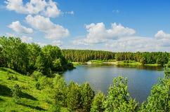 Schöne Sommerlandschaft Stockfotos