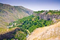 Schöne Sommerlandschaft, in Garni, Armenien Stockfotografie