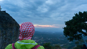 Schöne Sonnenaufgangansicht an broga Hügel, Malaysia Stockbilder