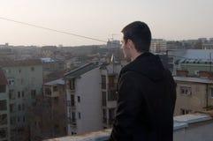 Schöne Sonnenuntergänge und Ansichten der Stadt mit vorbildlichem ‡ Danilo MaziÄ Lizenzfreies Stockbild