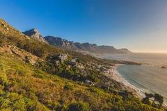 Schöne Sonnenuntergangansicht der 12 Apostel in Cape Town Stockfotografie