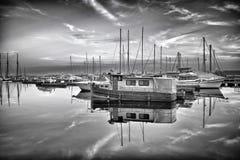 Sonnenuntergang-Reflexion Stockfotos