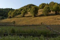 Schöne sonnige Morgenberglandschaft, Vasilyovo Lizenzfreie Stockfotografie