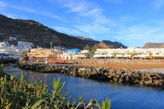Schöne Stadt Puerto Mogan in Gran Canaria, Spanien stockfotos