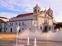 Schöne Stadtkirche von Lagos in Portugal lizenzfreies stockfoto