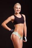 Schöne starke Sportlerin Stockfotos