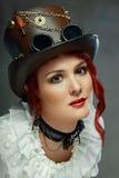 Schöne steampunk Frau Lizenzfreies Stockfoto
