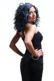 Schöne stilvolle Frau Stockfotos