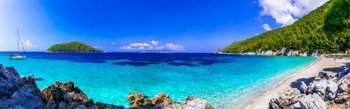 Schöne Strände von Skopelos-Insel Kastani-Strand, Griechenland lizenzfreies stockbild