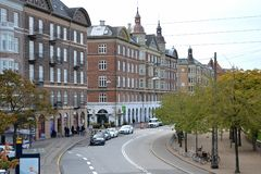 Schöne Straßen der alten Stadt Kopenhagen, D?nemark stockfoto