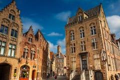 Schöne Straßen der historischen Stadt von Brügge lizenzfreie stockfotos