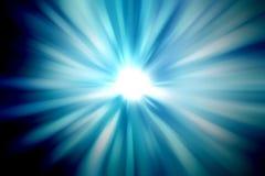 Schöne Strahlen des Lichtes Stockfotografie