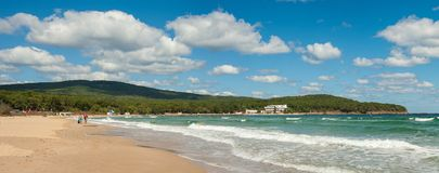 Schöne Strand Dünen auf dem Schwarzen Meer in Bulgarien nahe Sozopol stockfoto