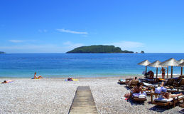 Schöne Strandansicht Stockfoto