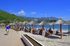 Schöne Strandansicht Lizenzfreies Stockbild