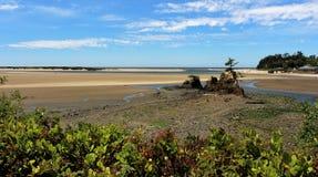 Schöne Strandansicht Stockfotografie