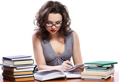 Schöne Studentin Stockfoto