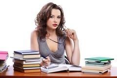 Schöne Studentin Lizenzfreies Stockfoto