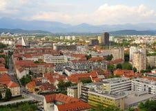 Schöne Szene der Hauptstadt Ljubljana Lizenzfreies Stockbild