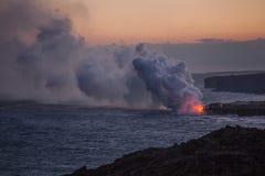 Schöne szenische Ansicht Kilauea Volcano Lava Big Island Hawaii stockfotos
