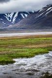 Schöne szenische Ansicht von Spitzbergen (Svalbard-Insel), Norwegen Stockbild