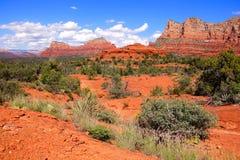 Schöne szenische Felsenlandschaft des roten Sandsteins Stockbilder