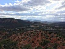 Schöne szenische Felsenlandschaft des roten Sandsteins Stockfotos