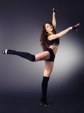 Schöne Tänzerin stockfoto