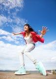 Schöne Tänzerin in der Bewegung Lizenzfreie Stockfotografie