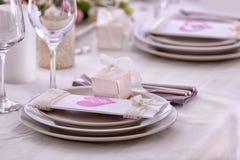 Schöne Tabelle eingestellt für die Heirat Lizenzfreie Stockbilder