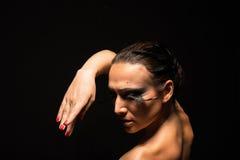 Schöne Tanzenfrau Lizenzfreie Stockbilder