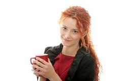 Schöne taube Frau stockbild