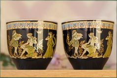 Schöne Teetassen und untertassen Lizenzfreies Stockfoto