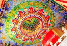 Schöne Tempelwolke Thailand-Porzellans Stockbild