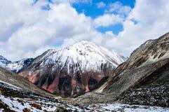 Schöne Tibet-Landschaft im Porzellan Lizenzfreie Stockfotos