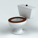 Schöne Toilette getrennt auf Weiß Lizenzfreie Stockfotografie