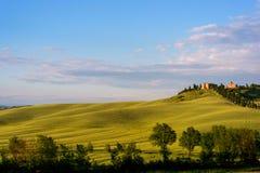 Schöne Toskana-Landschaft Stockfotografie