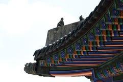 Schöne traditionelle Architektur in Seoul, Korea, öffentlicher Ort Stockfotos