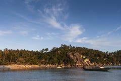 Schöne Tropeninsel mit nettem Bungalow KOH TAO Island Lizenzfreie Stockfotografie